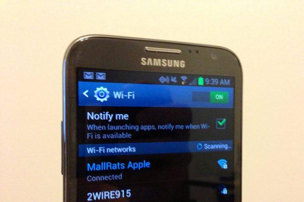 Lỗi mất Wifi, ẩn wifi trên điện thoại Samsung