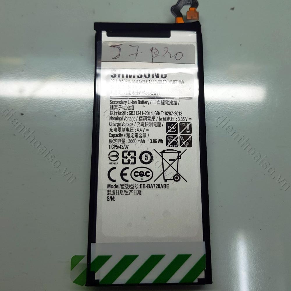 Thay Pin Samsung J7 Pro