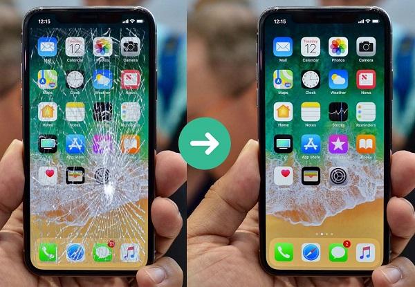 Thay trọn bộ màn hình mặt kính iPhone 8 Plus