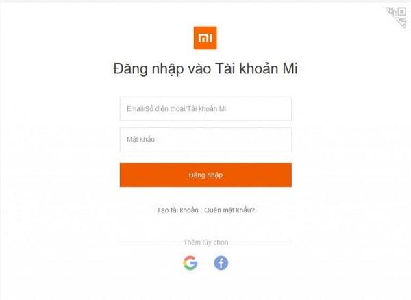 Quen Mat Khau Man Hinh Xiaomi 2