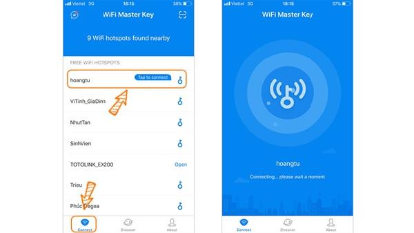 Cách hack pass wifi trên ứng dụng Master Key